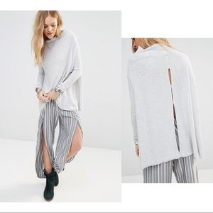 Free People Lover Ribbed Split Back Thermal Top